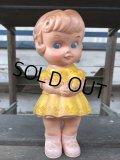 60s Vintage Edward Mobley Squeak Doll Girl & Bear (J156)