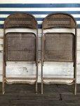 画像7: Vintage Metal Folding Chair Set (J201)