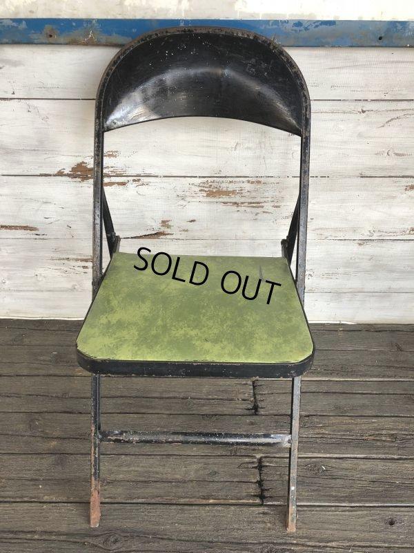 画像1: Vintage Lyon Metal Folding Chair (J200)