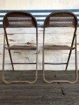 画像3: Vintage Metal Folding Chair Set (J201)
