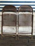 画像6: Vintage Metal Folding Chair Set (J201)