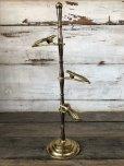 画像3: Vintage Brass Gloved Hand Clip Stand JAPAN (J205)