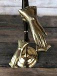 画像4: Vintage Brass Gloved Hand Clip Stand JAPAN (J205)