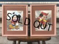 Vintage Foil Picture of Disney Mickey & Minnie Mouse (J209)