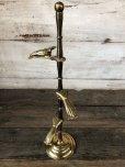 画像2: Vintage Brass Gloved Hand Clip Stand JAPAN (J205) (2)