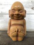 画像1: 50s Billiken Kelvin JAPAN Ceramic Piggy Bank (J210) (1)