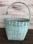 画像2: Antique Primitive Baskets Green (J217) (2)