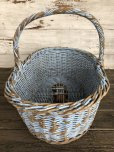 画像4: Antique Primitive Baskets Blue (J215)