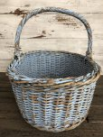 画像3: Antique Primitive Baskets Blue (J215)