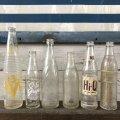 Vintage Soda Glass Bottle O-So Grape (J234)