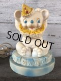 60s Vintage Circus Bear Lamp Rubber Doll (J251)