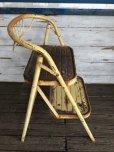 画像4: Vintage Folding Step Stool Chair Yellow (J255)