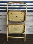 画像9: Vintage Folding Step Stool Chair Yellow (J255)