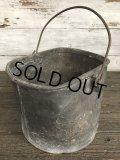 Vintage Heavy Metal Galvanzed Bucket Pail Can (J252)