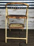 画像5: Vintage Folding Step Stool Chair Yellow (J255)