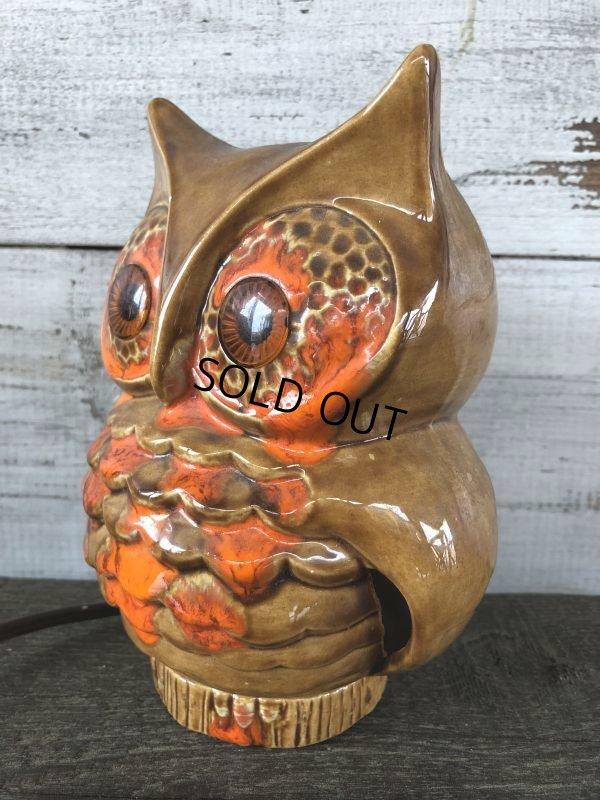 画像2: Vintage Ceramic Owl TV Lamp (J256)