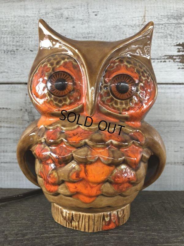 画像1: Vintage Ceramic Owl TV Lamp (J256)
