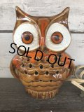 Vintage Ceramic Owl TV Lamp (J257)
