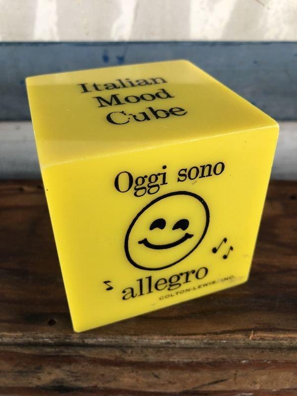 画像1: Vintage Italian Mood Cube Smiley Happy Face (J272)