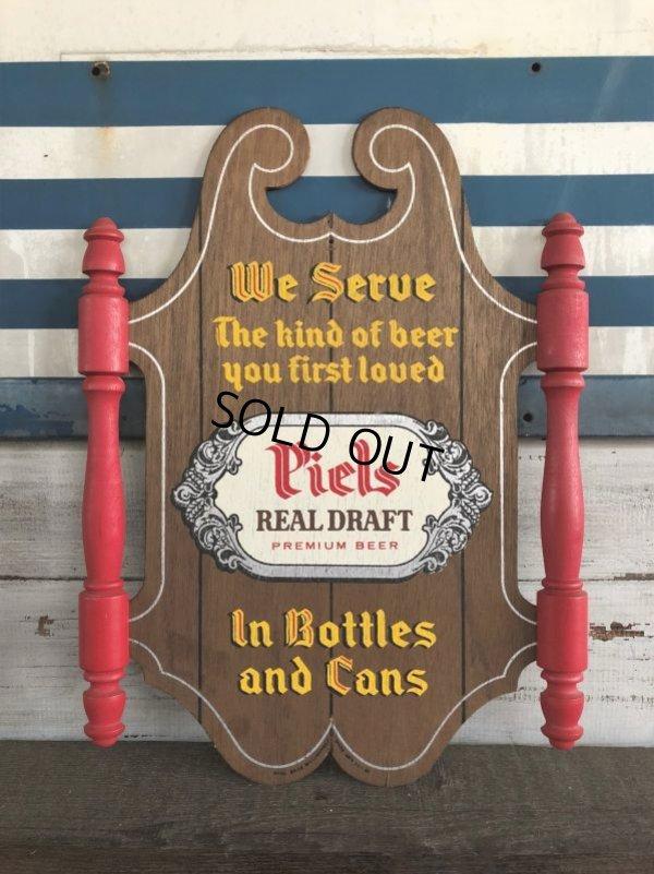 画像1: Vintage Piels Beer Wood Sign (J275)