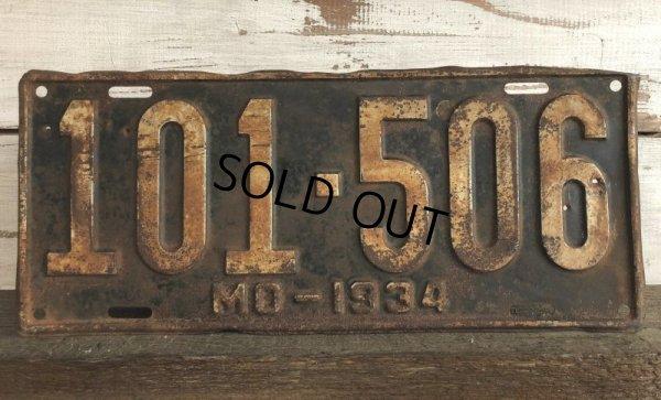 画像1: 30s Vintage Lisence Plate 101-506 (J294)