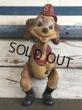 40s Vintage Serugo Rubber Fire Dog Squeak Doll (J282)