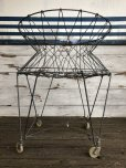 画像2: Vintage Wire Laundry Basket (J285) (2)