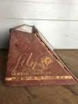 画像2: 30s Vintage Lily Sewing Threads Spool Cabinet (J283)   (2)