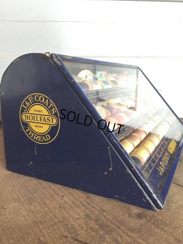 画像2: 30s Vintage J&P Coats Spool Cabinet (J284)