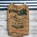 Vintage Voyageur Potato Burlap Bag 100 LBS (J290)