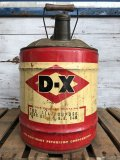 Vintage DX 5 GAL Gas Oil Can (J297)
