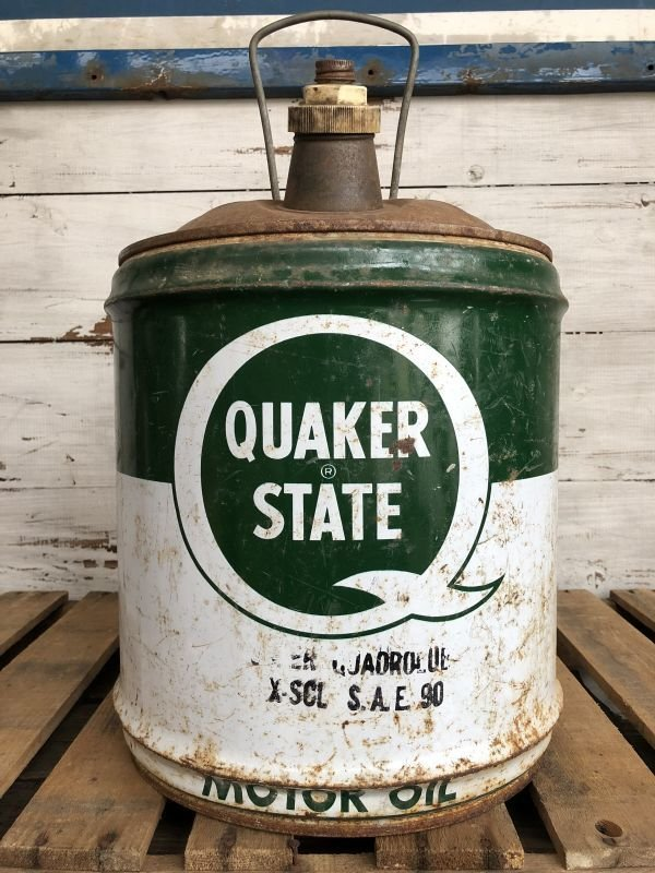 画像1: Vintage Quaker State 5 GAL Gas Oil Can (J299)