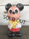 Vintage Mickey Rubber Doll Ledraplastic (J305)