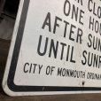 画像5: Vintage Road Sign PARK CLOSED (J332)