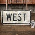 画像1: Vintage Road Sign WEST (J324)   (1)