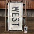 画像10: Vintage Road Sign WEST (J324)