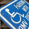 画像2: Vintage Road Sign Handicap Parking (J328)   (2)