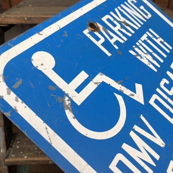 画像2: Vintage Road Sign Handicap Parking (J328)