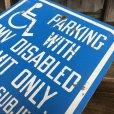 画像5: Vintage Road Sign Handicap Parking (J328)