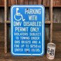 Vintage Road Sign Handicap Parking (J328)