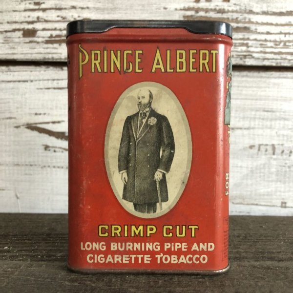 画像1: Vintage PRINCE ALBERT Tabacco Pocket Tin Can (J342)