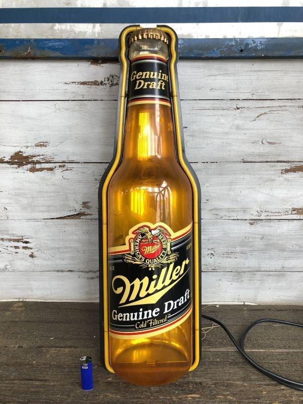 画像2: 80s Miller Beer Genuine Draft Cold Filtered Neon Sign (J361)