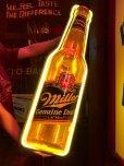 画像1: 80s Miller Beer Genuine Draft Cold Filtered Neon Sign (J361) (1)