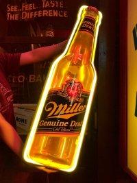 80s Miller Beer Genuine Draft Cold Filtered Neon Sign (J361)