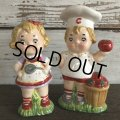 Vintage Campbell Soup Kids Salt & Pepper Statue (J369)