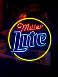 画像1: Miller Lite Beer Neon Sign (J376) (1)