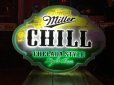画像1: Miller Chill Lime Flavored Beer Lighted Sign CHELADA STYLE (J377) (1)