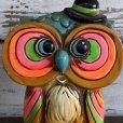 画像6: Vintage Coin Bank Psychedelic Hippie Owl (J383)