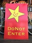 画像1: Vintage Original Carl's Jr Drive-thru Sign DO NOT ENTER (J378) (1)