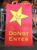 Vintage Original Carl's Jr Drive-thru Sign DO NOT ENTER (J378)
